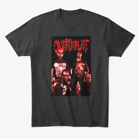 Overthrust Line Up Black T-Shirt Front