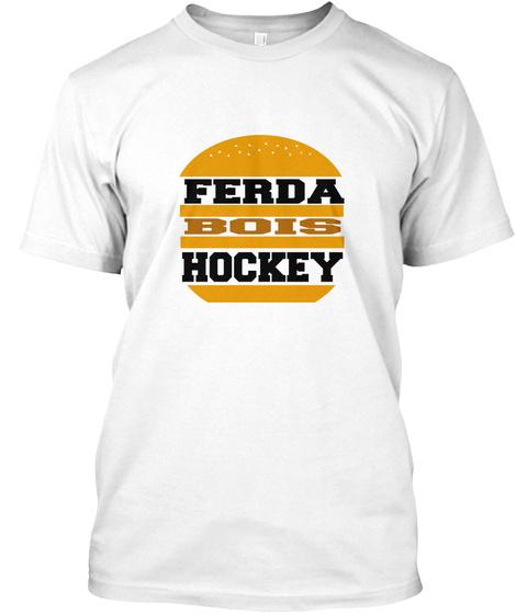 Ferda Bois Hockey White T-Shirt Front