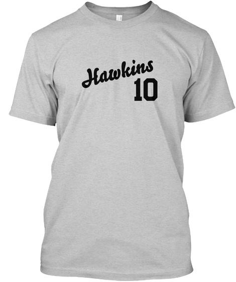 Hawkins Varsity Legend Light Steel T-Shirt Front