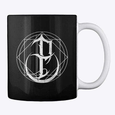 Emblem Mug Black T-Shirt Back