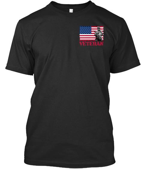 Veteran Black T-Shirt Front