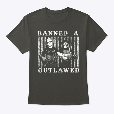 Banned & Outlawed Shirts  Smoke Gray Camiseta Front