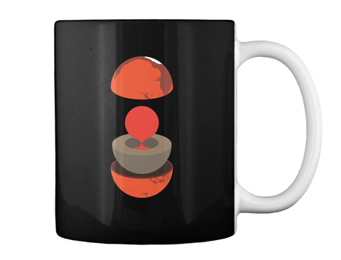 Layers Mars Mug V [Usa] #Sfsf Black Mug Back