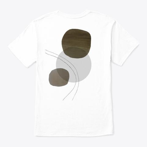 Simple Art F White T-Shirt Back