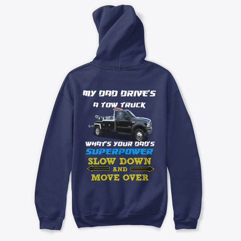 2018 My Dad Drives ( Isaac ) Navy T-Shirt Back