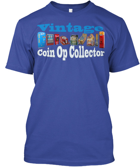 Vintage Coin Op Collector Deep Royal T-Shirt Front