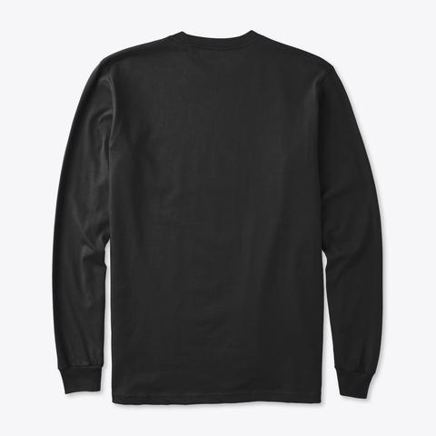 Organic Long Sleeve Tee: Sisu Sign Black T-Shirt Back