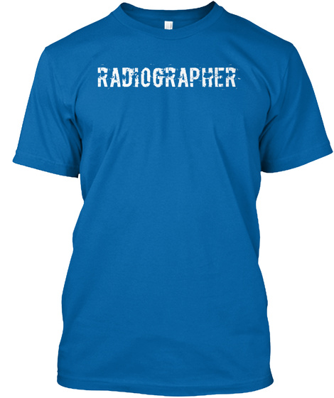 Radiographer True Royal T-Shirt Front