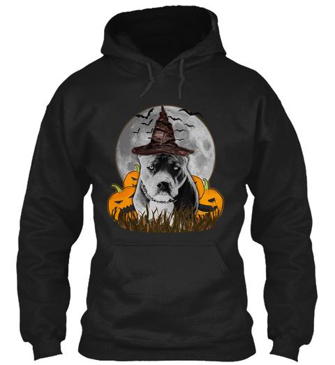 Halloween T Shirt Pitbull T Shirt Black T-Shirt Front