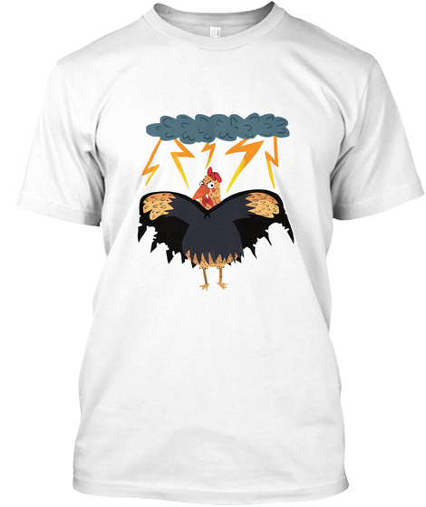 Dracula Chicken White T-Shirt Front