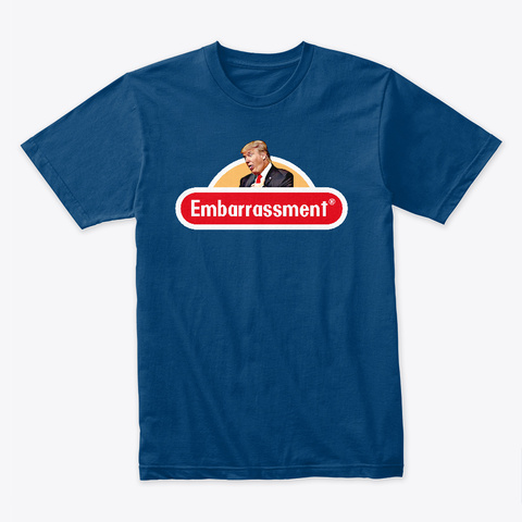 Embarrassment! Cool Blue T-Shirt Front