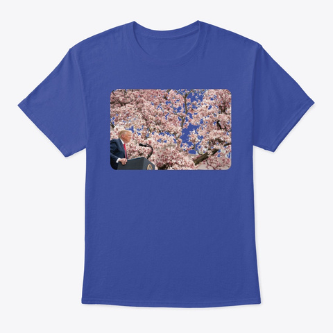 Smells Like Freedom Deep Royal T-Shirt Front