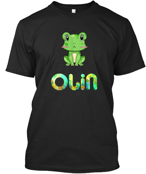 Olin Frog / Olin Grenouille Black T-Shirt Front