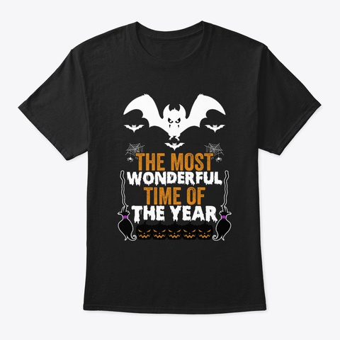 The Most Wonderful Time Of The Year Black T-Shirt Front