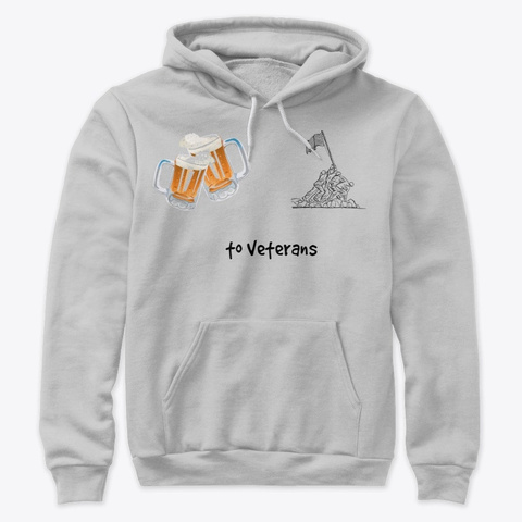 to Veterans hooded sweatshirt