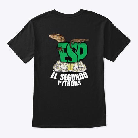 Esp Gear   White Lettering Black T-Shirt Back