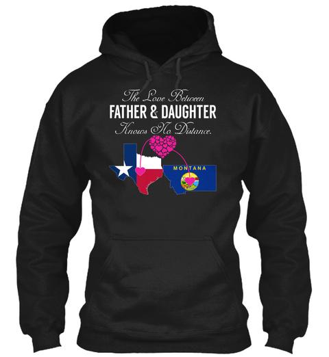 Father Daughter   Texas Montana Black T-Shirt Front
