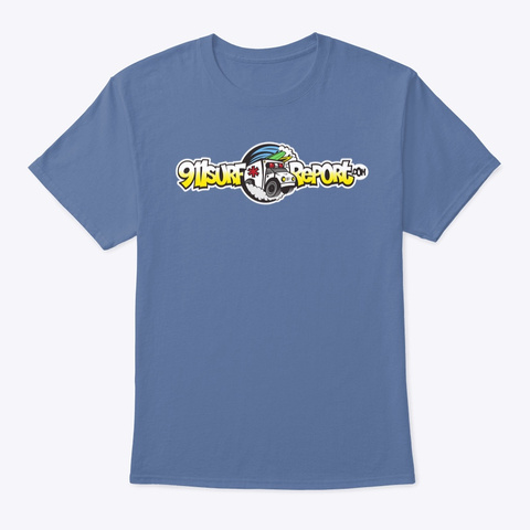 911 Surf Report Logo   2019 Denim Blue T-Shirt Front