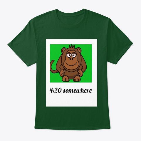 420 Somewhere Monkey Deep Forest áo T-Shirt Front