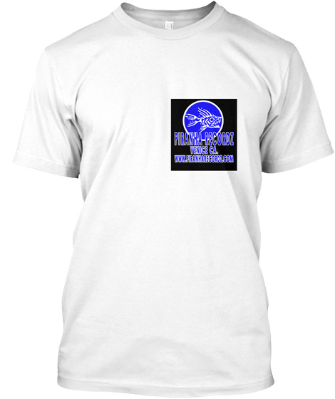 Piranha Recordz Broken Glass White T-Shirt Front