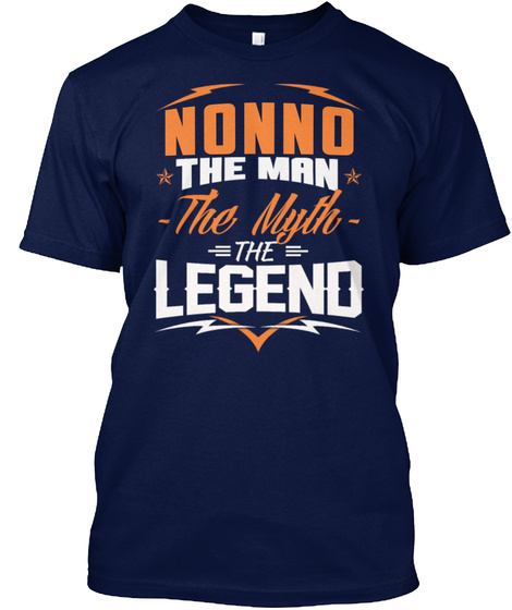 Nonno   The Man   The Myth   The Legend Navy T-Shirt Front