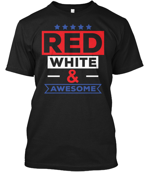 4th Of July   American Independence Day Black T-Shirt Front