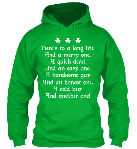 St. Patrick's Day Toast Kelly Green T-Shirt Front