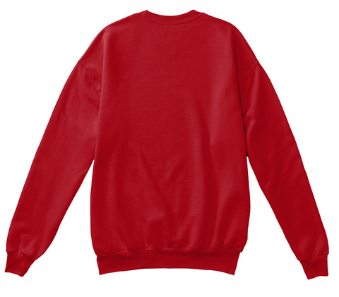Handsome Holiday Sweater Deep Red  Sweatshirt Back