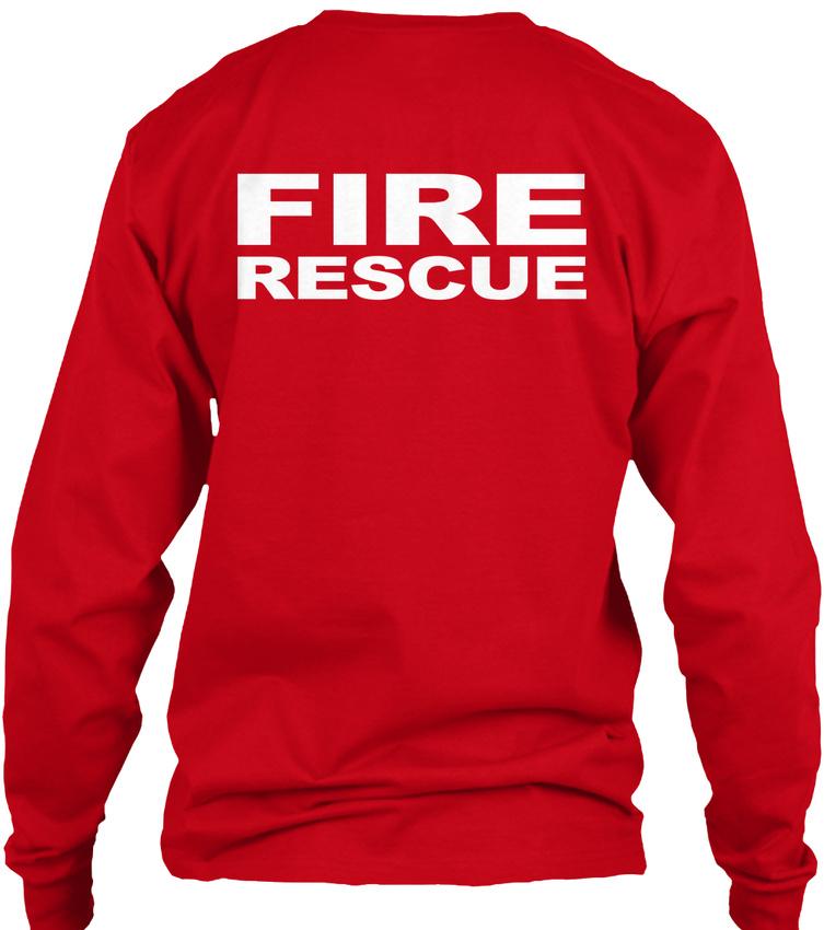 Fire-Rescue-S-F-D-Gildan-Long-Sleeve-Tee-T-Shirt thumbnail 10