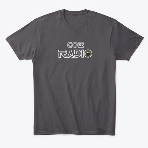 Go B Radio Heathered Charcoal  T-Shirt Front