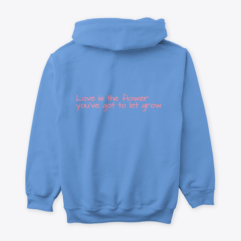 Lo Fi Girl Hoodie And Shirt Carolina Blue T-Shirt Back