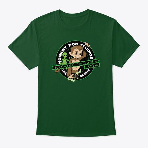 Podtoberfest 2019 Promo Deep Forest T-Shirt Front