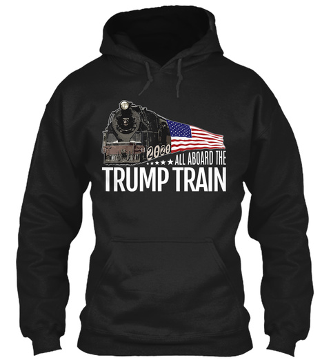 All Aboard The Trump Train 2020 USA Flag Unisex Tshirt