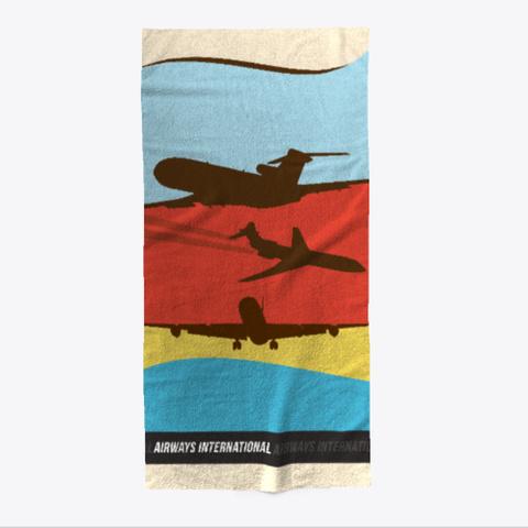 Airways International Jet Age Towel Standard T-Shirt Front