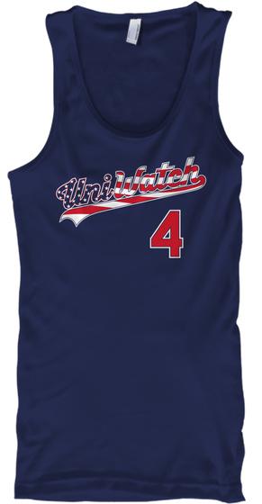 Uni Watch 4 Navy T-Shirt Front
