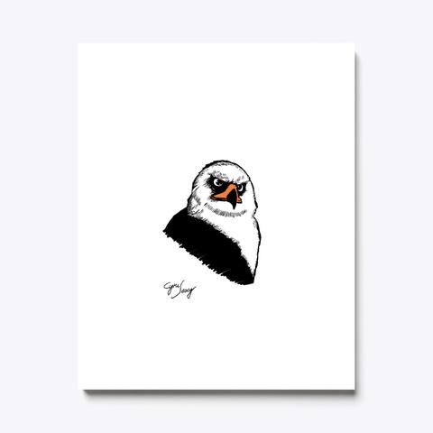 Black&White Hawk Eagle White T-Shirt Front