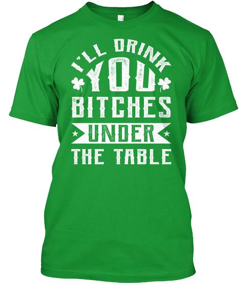 St Patricks Day Drinking Tshirt Kelly Green T-Shirt Front