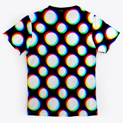 Polka Blurs Black T-Shirt Back