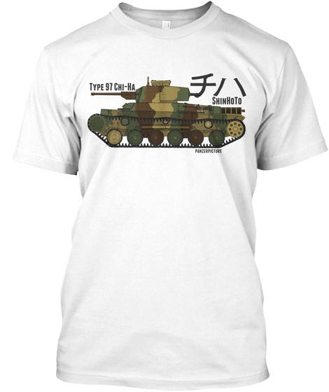 Type 97 Chi Ha Shin Ho To White T-Shirt Front