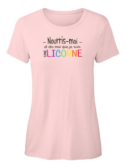 T Shirt   Nourris Moi Et Dis Moi  Light Pink T-Shirt Front
