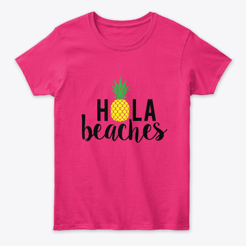 Hola Beaches Heliconia T-Shirt Front