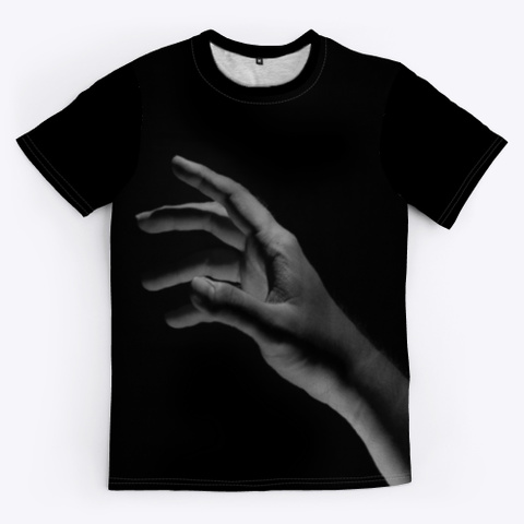 All Over Print Unisex Tee Black T-Shirt Front