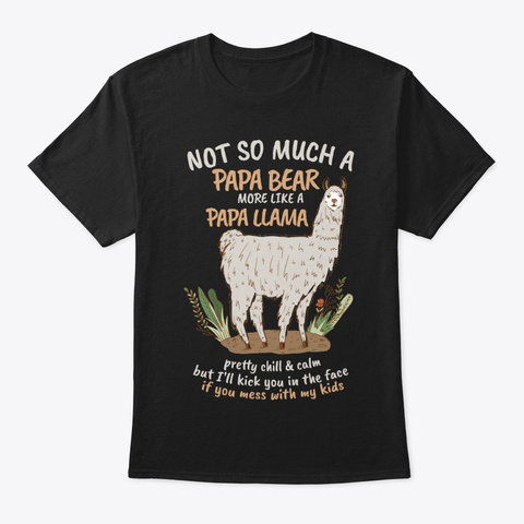 Im Mama Llama Dont Mess With My Littles Black T-Shirt Front
