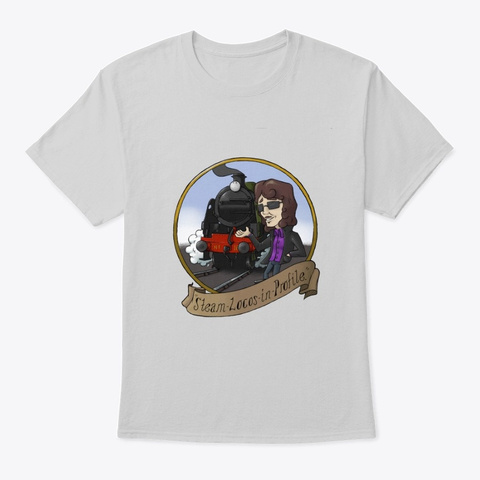 Steam Locos In Profile   Southern U Boat Light Steel T-Shirt Front
