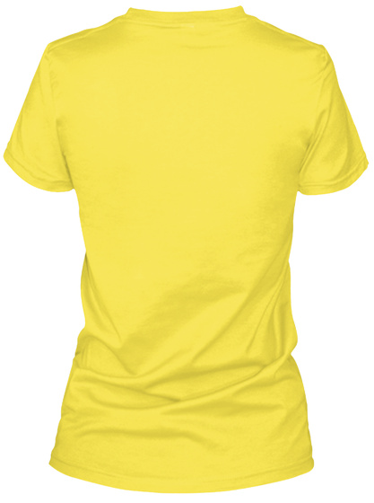 Kiss 4 More Yrs Vibrant Yellow T-Shirt Back