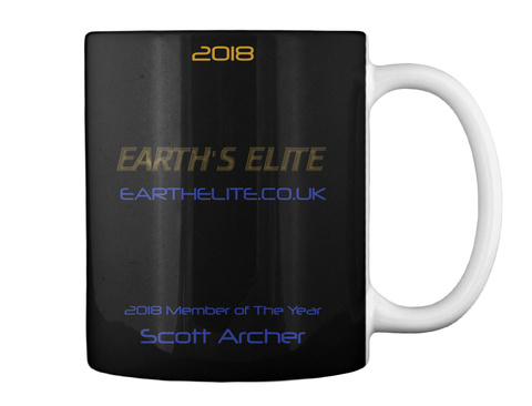 2018 Earthelite.Co.Uk 2018 Member Of The Year Scott Archer Black Mug Back