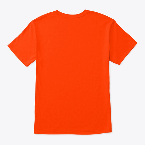 Hacker With Smoke Merch Orange T-Shirt Back