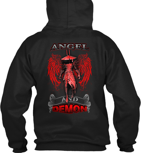 Angel Black T-Shirt Back