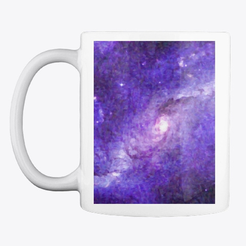 Impressionist Galaxy In Purple Art White T-Shirt Front