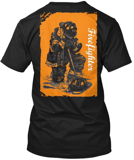 Firefighter Black T-Shirt Back